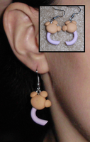 Pokemon-Inspired Aipom Tail Earrings by UniqueTreats