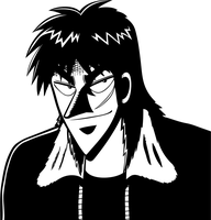 Kaiji Itou - B-W Vector - by Frow7