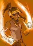 Korra fire bending by ktshy
