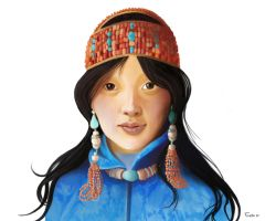 Tibetan girl by reciprocated