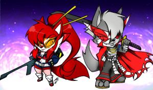 SCSFCC-WOLF AND CARENA by WhiteFox89