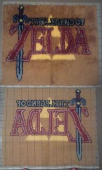 The Legend of Zelda: A custom latch-hook rug by AlliBear17