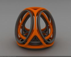 Twisted Tetrahedron w HDRI by droot1986