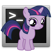 Twilight Sparkle Terminal Icon by DaylightBrilliance