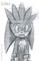 Doodle: Silver The Hedgehog by icefatal
