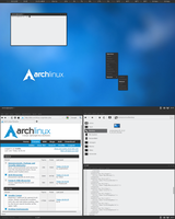 Arch Linux + Openbox + Tiling by rent0n86