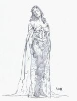 Wonder Woman design sketch. by RobertHack