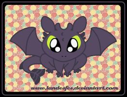 Chibi Toothless by landesfes
