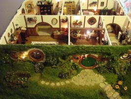 Hand Made Mini Hobbit Hole by maddsrocks