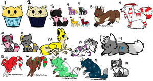 lots of cheap and FREE adoptables! CLOSED by AmazingAdoptablez