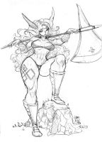 Amazon Dragons Crown - Commission by KarlaDiazC