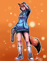 Pudding the Fox by AphexAngel
