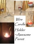 Wire Candle Holder by AwesomeFerret