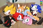Sonic the Hedgehog Character Cushions by louisalulu