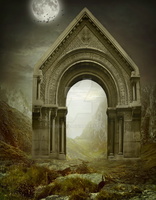 PREMADE background - Arch by Euselia