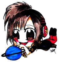 Shinpei with a toy planet by elrickousuke54