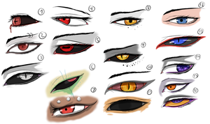 Character Eye Study/Practice by Arrancarfighter