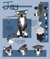 Jay ref commission by Painted-Shadow