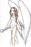 Angel with Staff, coloured by Kairillia