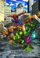Hulk versus the world by Simon-Williams-Art