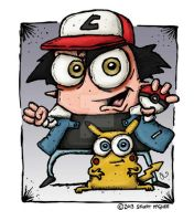 Ash And Picachu by stuartmcghee