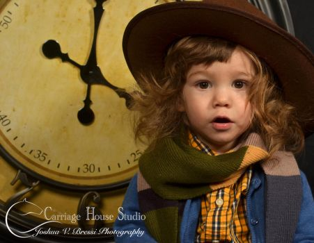 Baby Doctor Who - The Fourth Doctor w clock by Jbressi