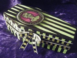 Zombie Cameo Coffin Box by tragicbat