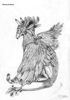 Feathered Gryph by BlaineMono