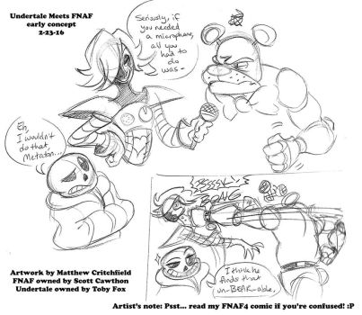 Undertale Meets FNAF - Sketch 01 - 2-23-16 by Mattartist25