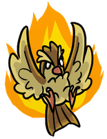 Fire pidgey by EMShelley