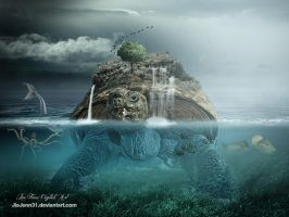 Underwater scene GIANT Turtoise by JiaJenn31