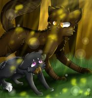 Warriors cats : Tigerclaw x Ravenpaw by tctctipfy
