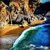 Julia Pfeiffer Burns State Park, McWay Falls, Cali by R-M-Williams