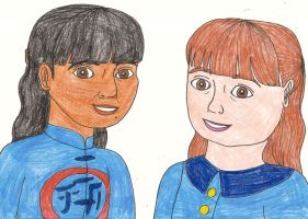 Gift for Denise Nickerson: Me and Denise as Violet by Magic-Kristina-KW