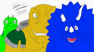 Stegz, T-Bone, and Spike from Extreme Dinosaurs by DinoLover09