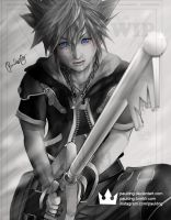 WIP Kingdom Hearts Sora by pauldng