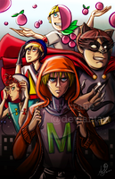 Mysterion and Friends by papier-crane