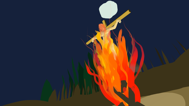 Witch on fire (oculus quill) by Joe-4-Kerr