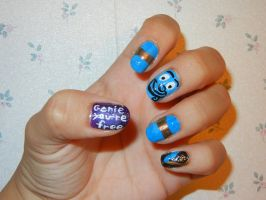 Robin Williams Aladdin Genie Inspired Nails by FlowerPhantom