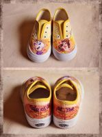 Beauty and the Beast Shoes by TrappedinVacancy