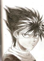 Hiei, the Fire Demon by kheidarian