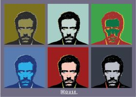 Gregory House pop art, Andy Warhol style by scaravi