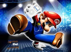 Mario with IPOD by DDR-Gurl-Melanie