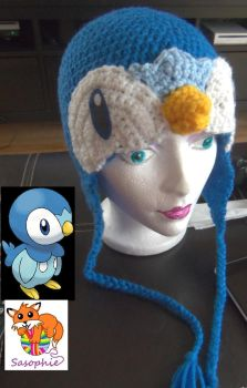 Piplup crochet Beanie by Sasophie