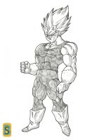 Vegeta ussj -Buu saga- by bloodsplach