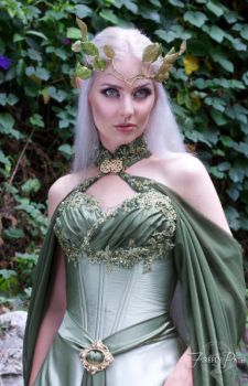 Elven Bridal Gown Model by Firefly-Path