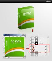 3D Box Template by templay-team