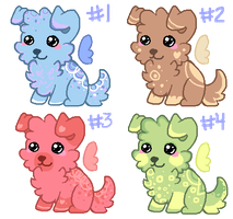 winged puppies | point adopts [CLOSED] by purrbell