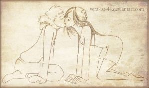Wendy and Kenny. kiss by Vera-Ist-44
