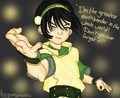 Toph Bei fong from the last airbender by RisingAngelss